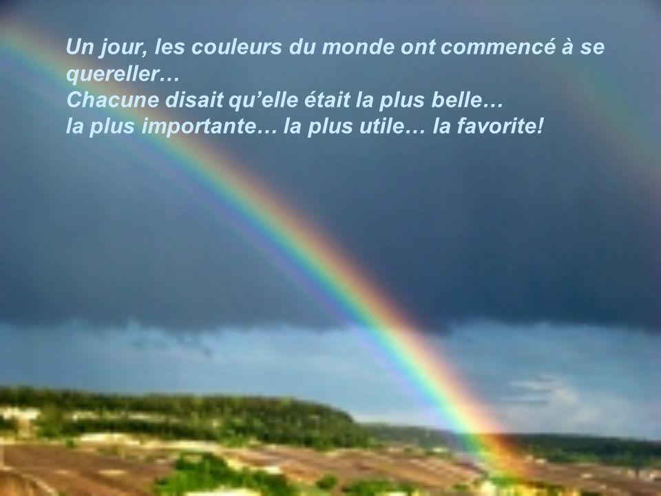 Les couleurs de larc-en-ciel Texte de Marie-Jo Cliquez pour avancer