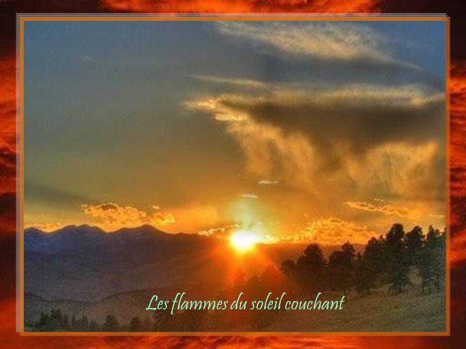Les flammes du soleil couchant La splendeur de laube nouvelle