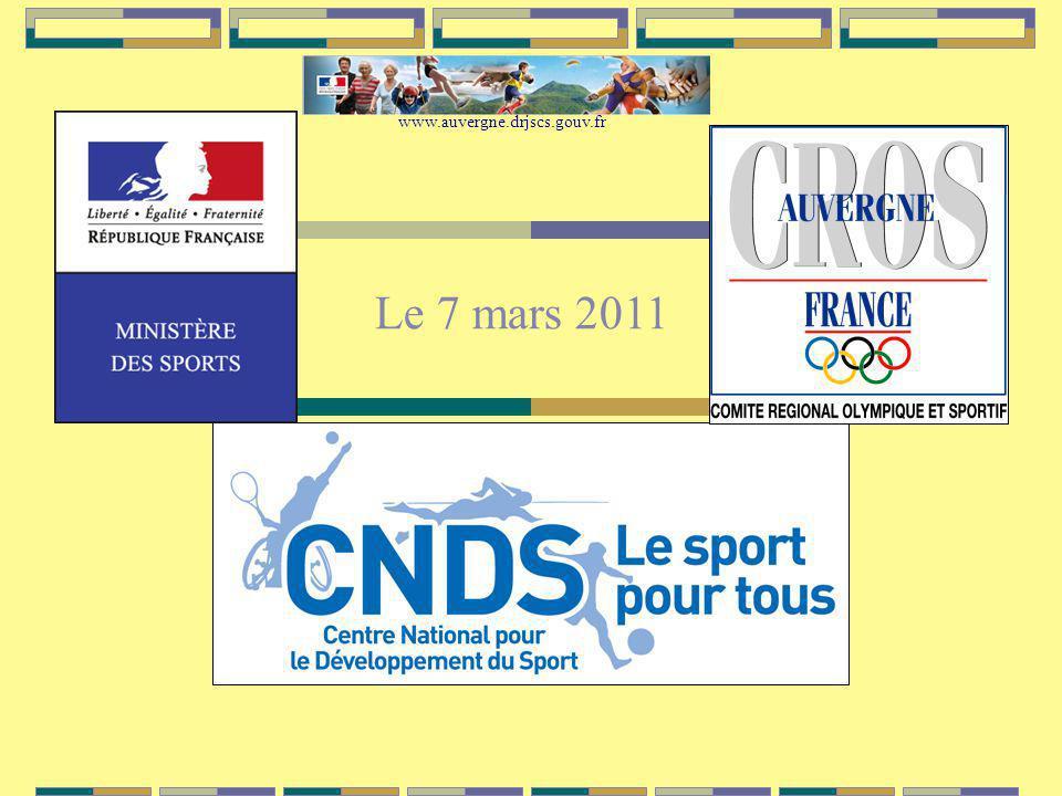 Le 7 mars 2011 www.auvergne.drjscs.gouv.fr