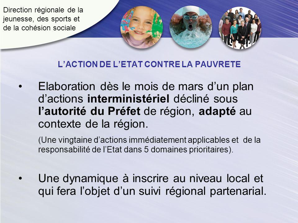 Direction régionale de la jeunesse, des sports et de la cohésion sociale Elaboration dès le mois de mars dun plan dactions interministériel décliné so