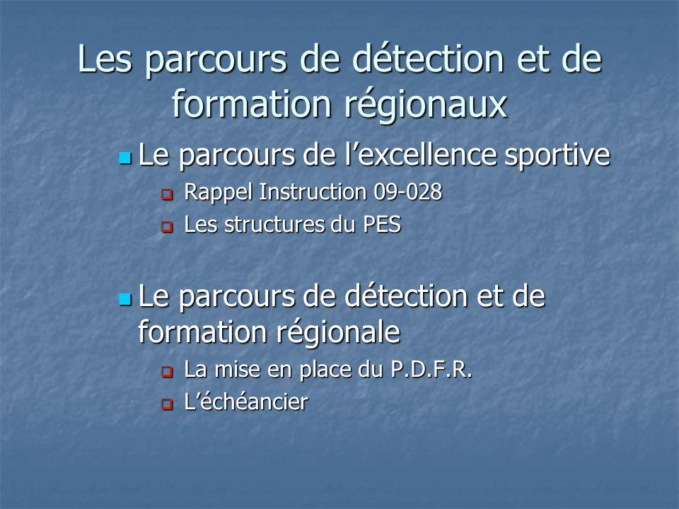 Le parcours de lexcellence sportive Le parcours de lexcellence sportive Rappel Instruction 09-028 Rappel Instruction 09-028 Le PES se substitue à la « filière daccès au sport de haut niveau ».