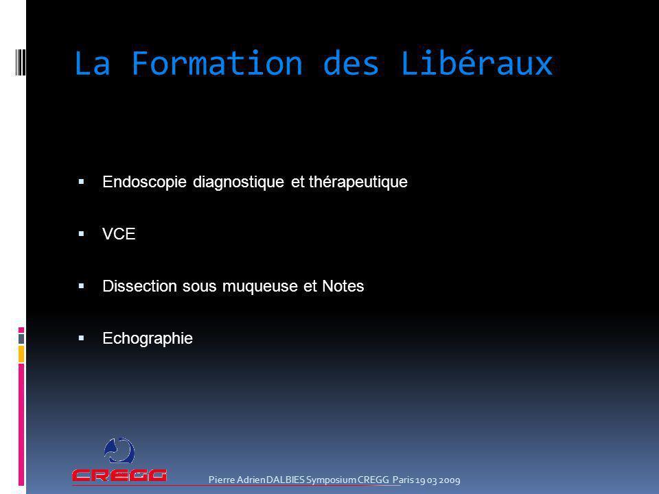 La Formation des Libéraux Endoscopie diagnostique et thérapeutique VCE Dissection sous muqueuse et Notes Echographie Pierre Adrien DALBIES Symposium C