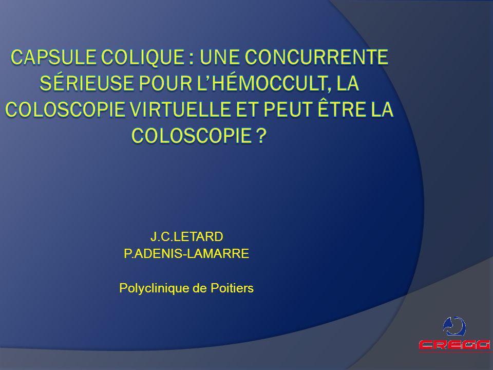 J.C.LETARD P.ADENIS-LAMARRE Polyclinique de Poitiers