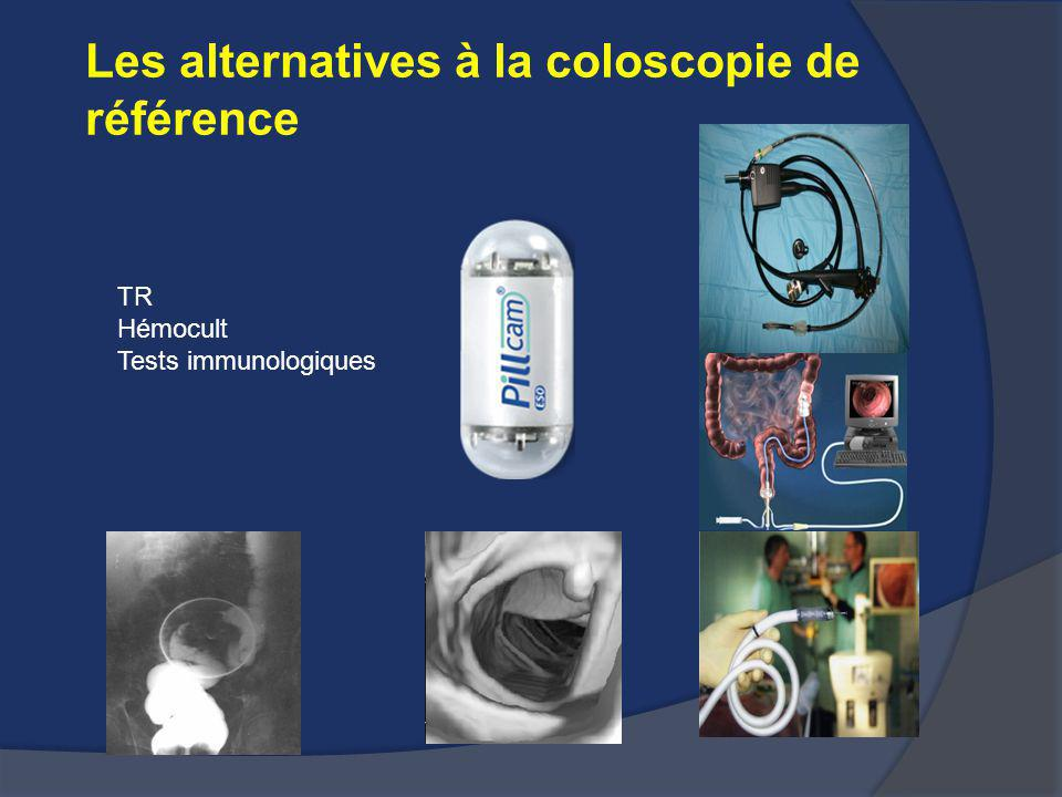Les alternatives à la coloscopie de référence TR Hémocult Tests immunologiques