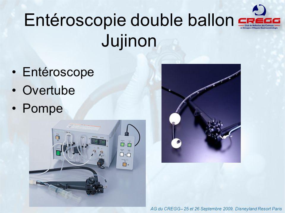 AG du CREGG– 25 et 26 Septembre 2009, Disneyland Resort Paris Entéroscopie double ballon Jujinon Entéroscope Overtube Pompe
