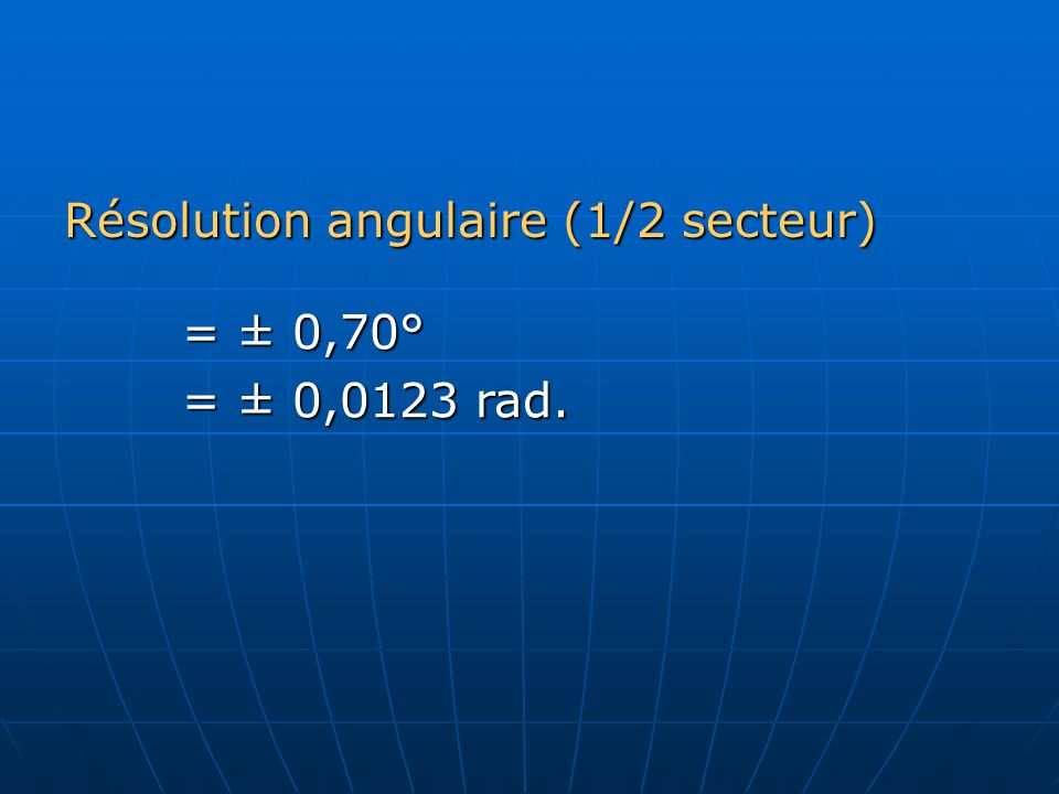 6.6 2 impulsions sont générées par tour a) 6100 tour/min.