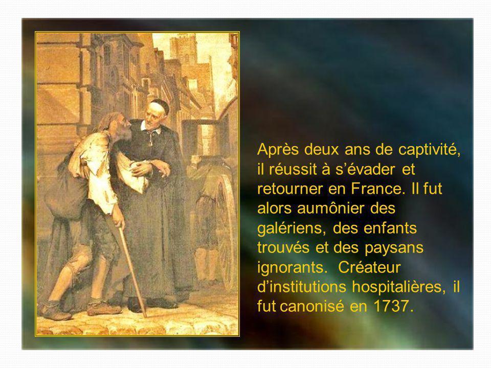 Après avoir été gardien du troupeau familial près de Dax dans les Landes, Vincent-de-Paul fut ordonné prêtre en 1600, après 7 ans détudes. Partant de