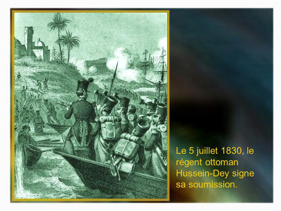 Après une bataille navale, larmée Française débarque à Sidi-Ferruch le 14 juin 1830