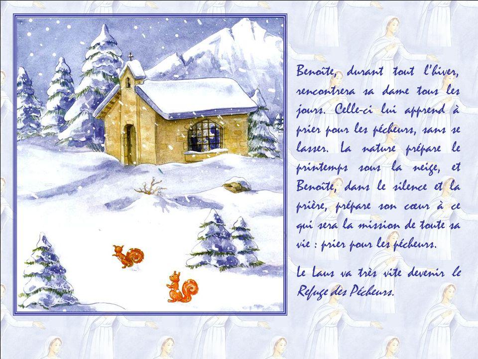 Vous imaginez bien que, dès le lendemain, Benoîte amena son petit troupeau au hameau de Laus, sur lautre versant de la montagne .