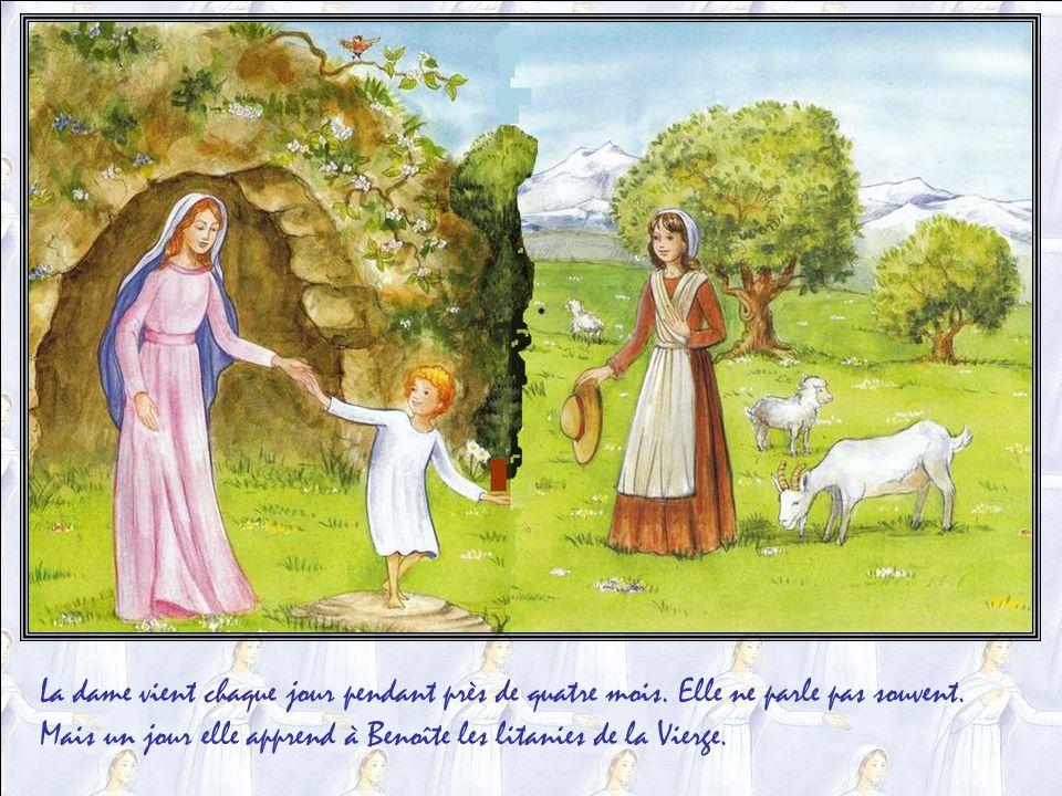 Elle va souvent, avec son troupeau, au Vallon des Fours, ainsi nommé car les paysans y ont creusé de nombreux fours pour cuire le plâtre nécessaire à leurs constructions.