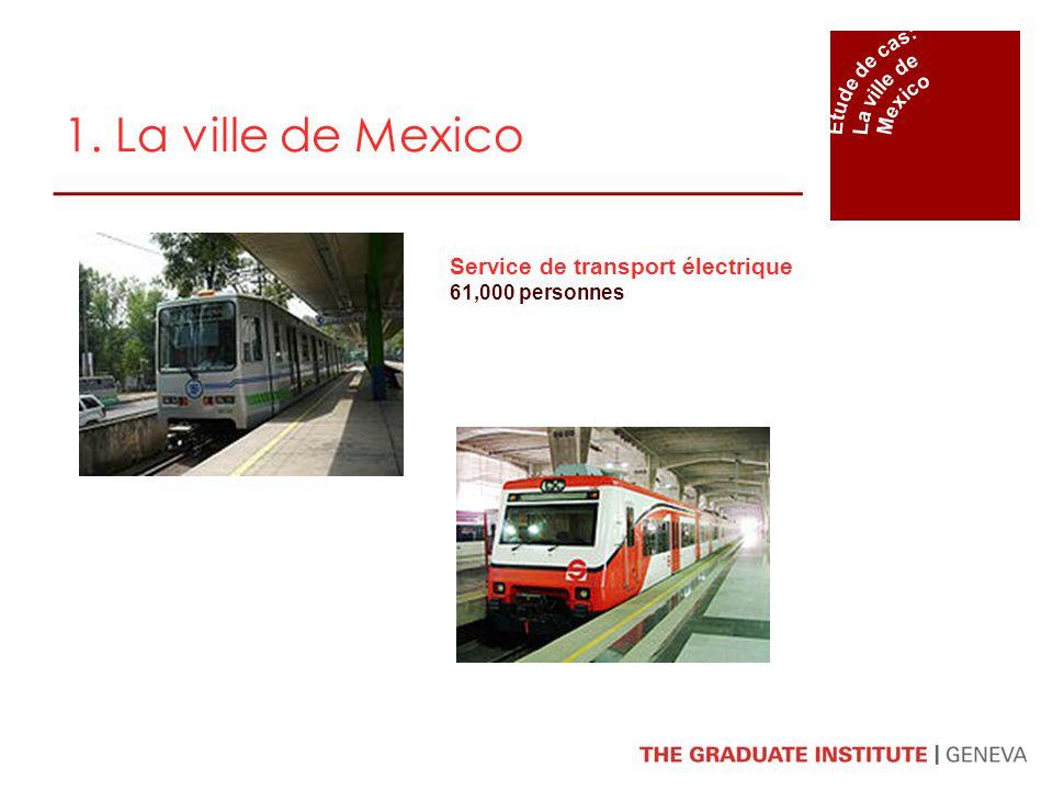 1. La ville de Mexico Service de transport électrique 61,000 personnes