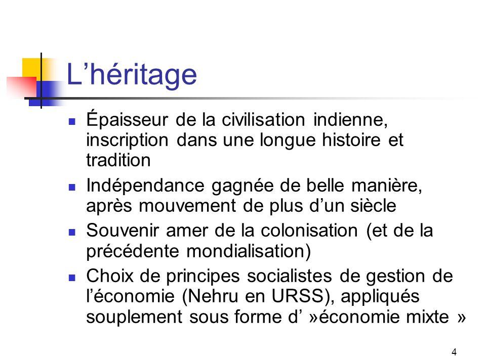 5 Indépendance, 1947 Traumatisme profond de la Partition (cf.