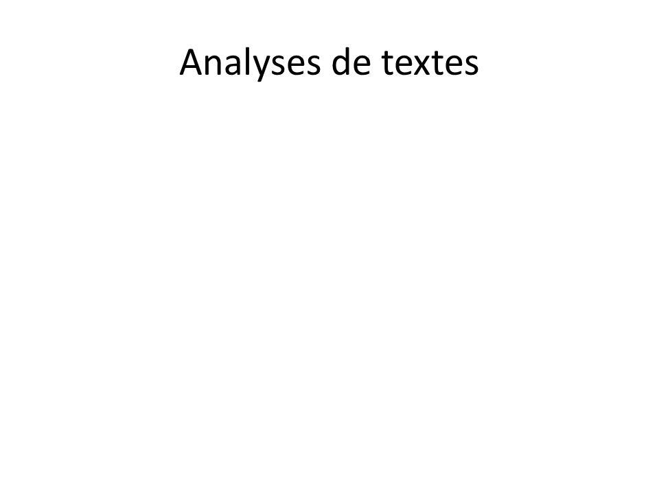 Analyses de textes