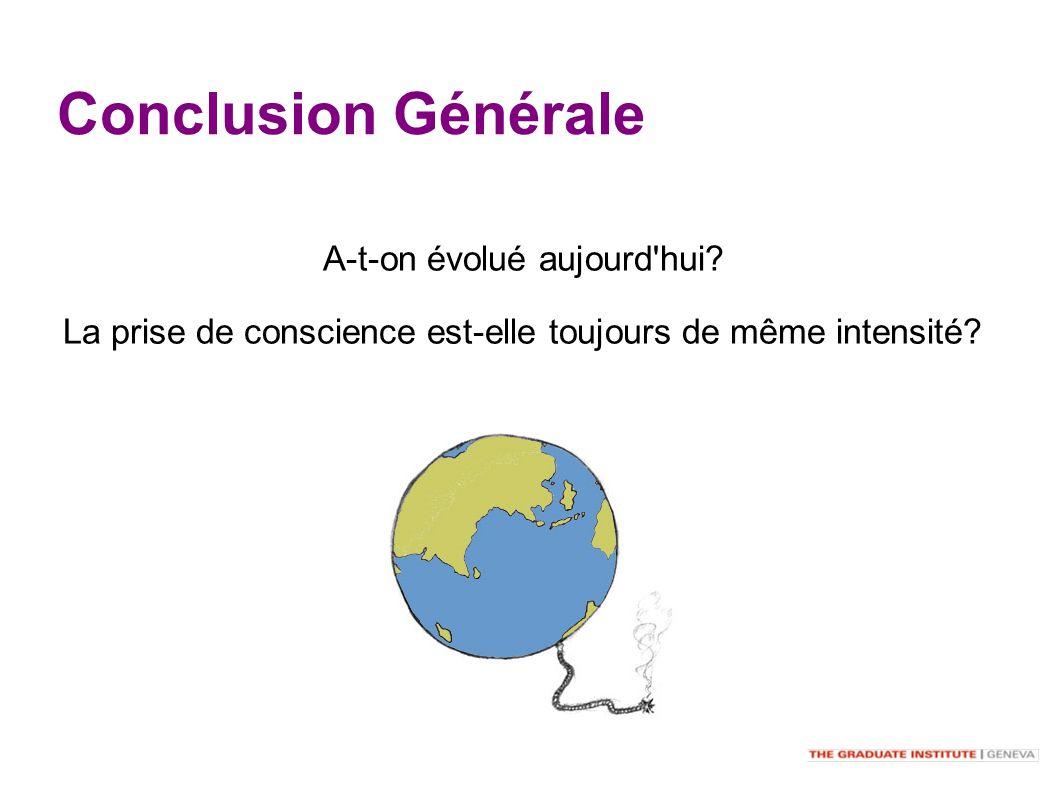 Conclusion Générale A-t-on évolué aujourd hui.