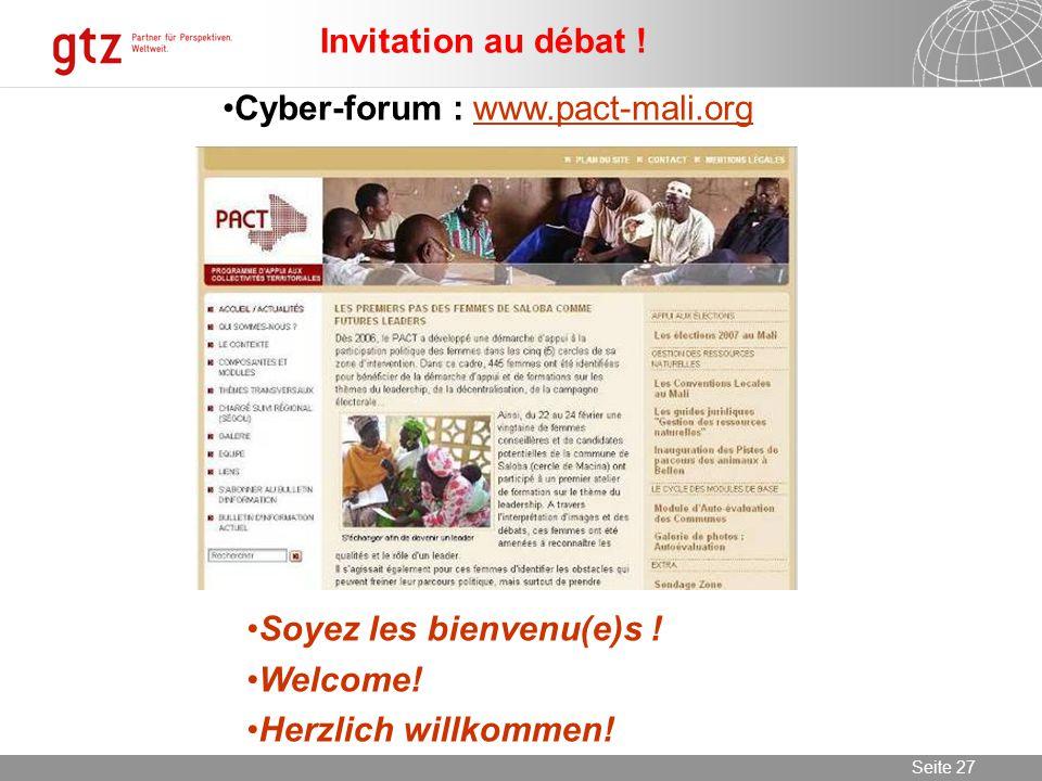 09.06.2014 Seite 27 Seite 27 Invitation au débat .