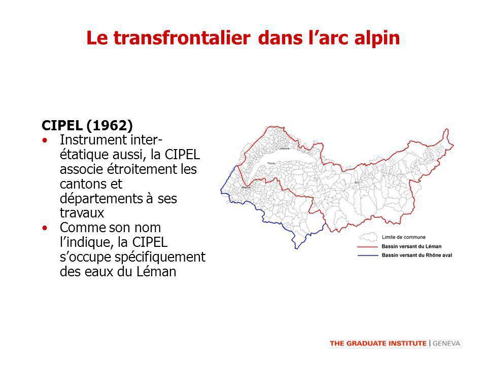 Instrument inter- étatique aussi, la CIPEL associe étroitement les cantons et départements à ses travaux Comme son nom lindique, la CIPEL soccupe spéc