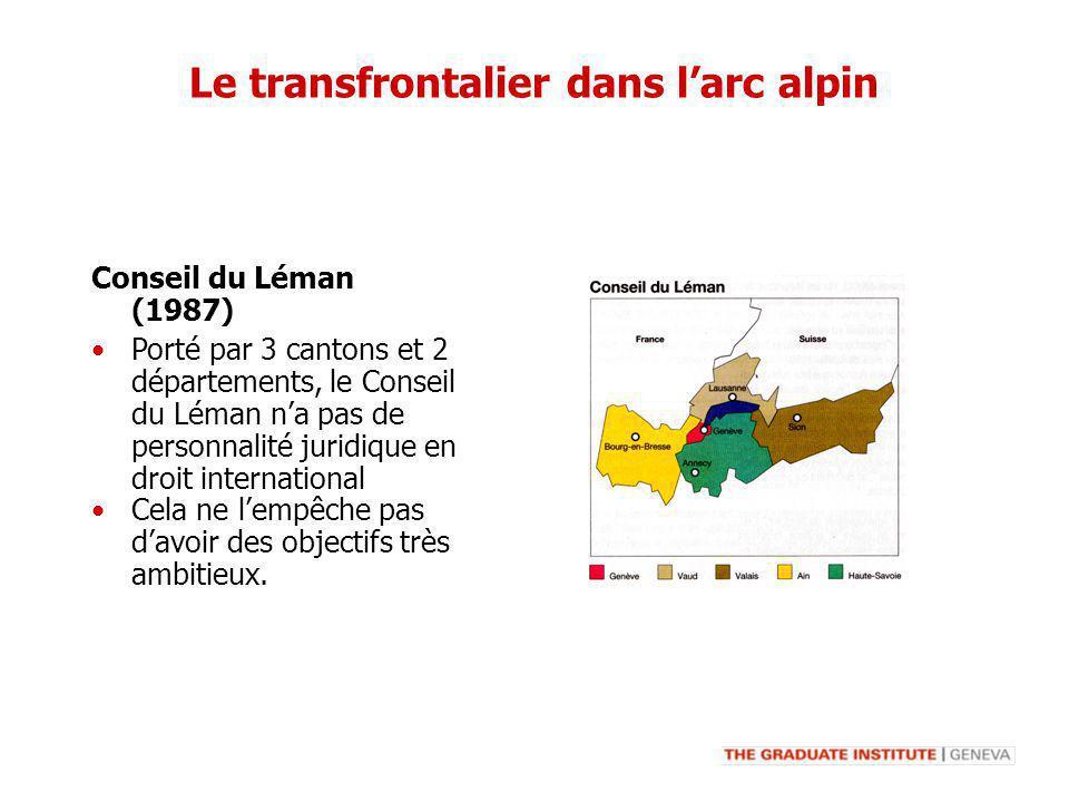 Porté par 3 cantons et 2 départements, le Conseil du Léman na pas de personnalité juridique en droit international Cela ne lempêche pas davoir des obj