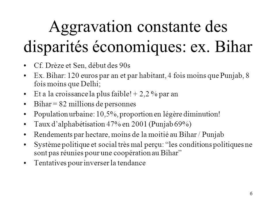 6 Aggravation constante des disparités économiques: ex.