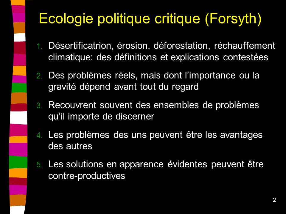 2 Ecologie politique critique (Forsyth) 1.