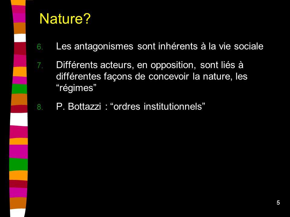 5 Nature. 6. Les antagonismes sont inhérents à la vie sociale 7.