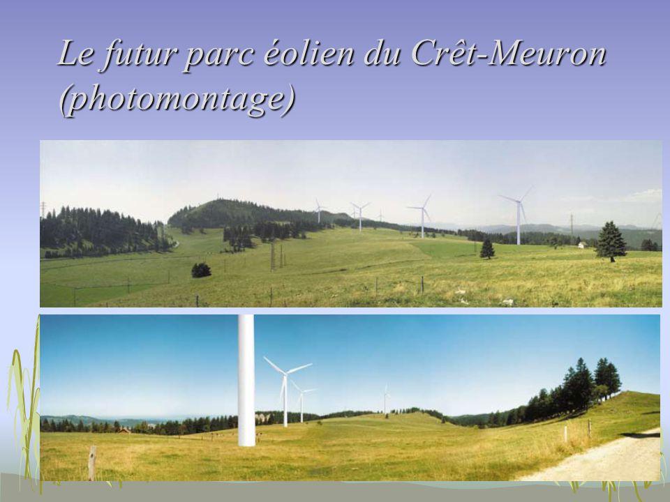 Le futur parc éolien du Crêt-Meuron (photomontage)