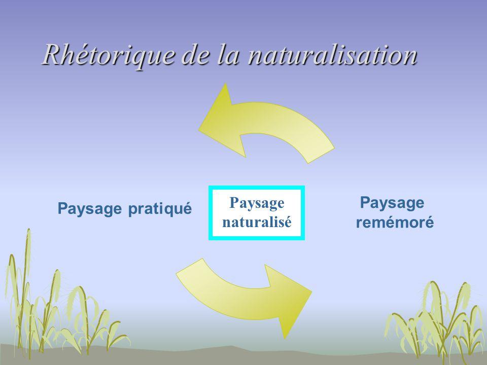 Rhétorique de la naturalisation Paysage naturalisé
