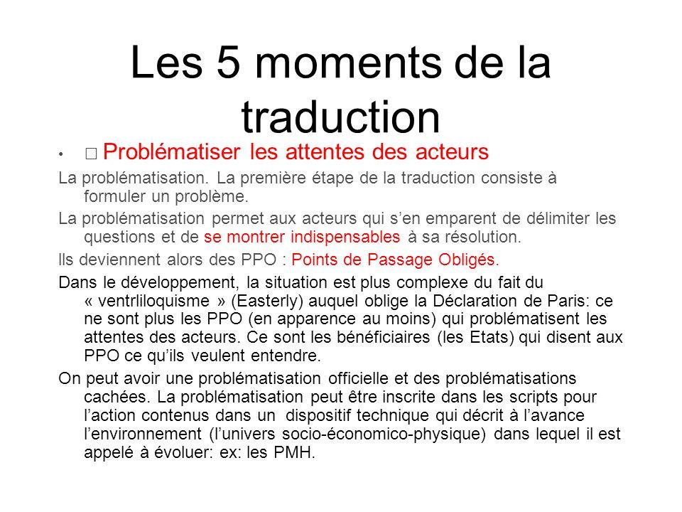 Les 5 moments de la traduction Intéresser les acteurs Lintéressement.