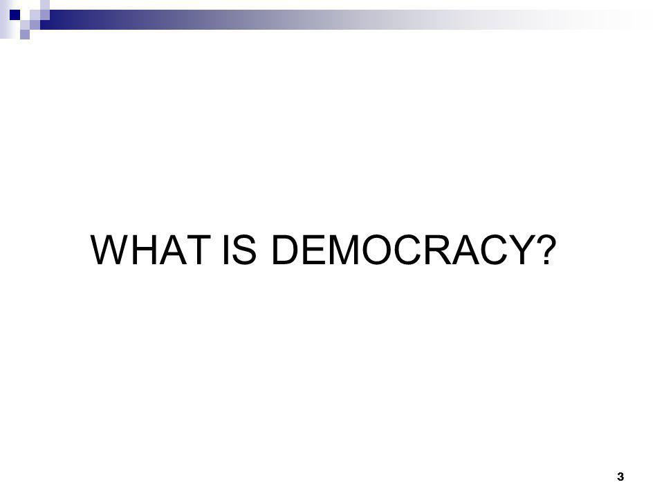 3 WHAT IS DEMOCRACY
