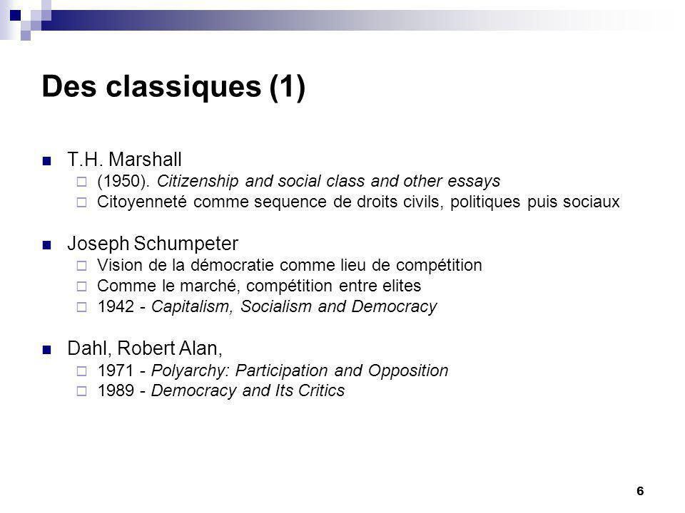 6 Des classiques (1) T.H. Marshall (1950).