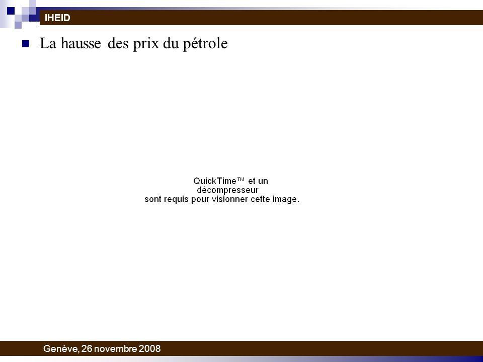 La hausse des prix du pétrole IHEID Genève, 26 novembre 2008