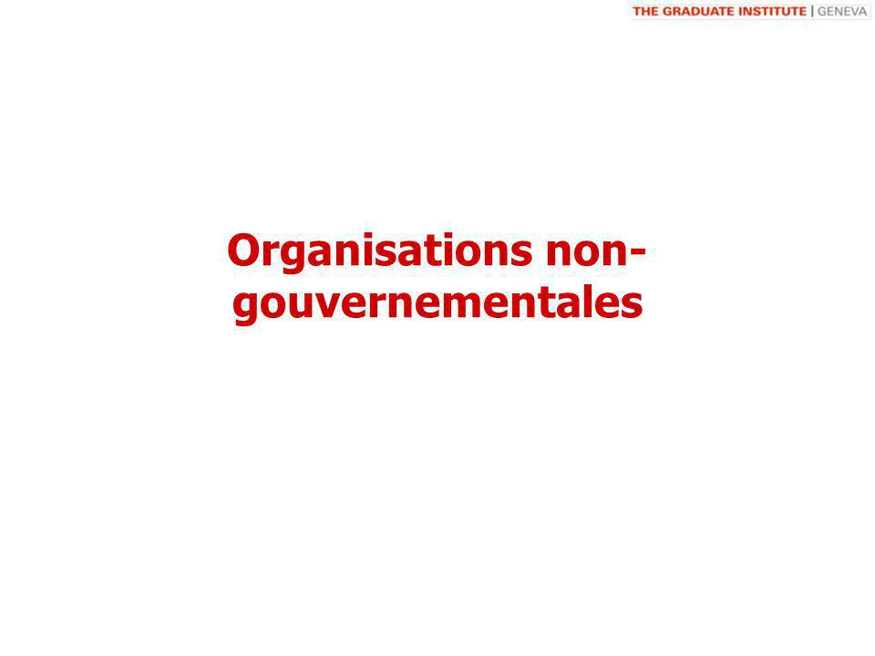 Organisations non- gouvernementales