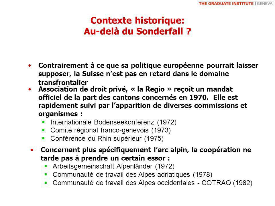 Contexte historique: Au-delà du Sonderfall .
