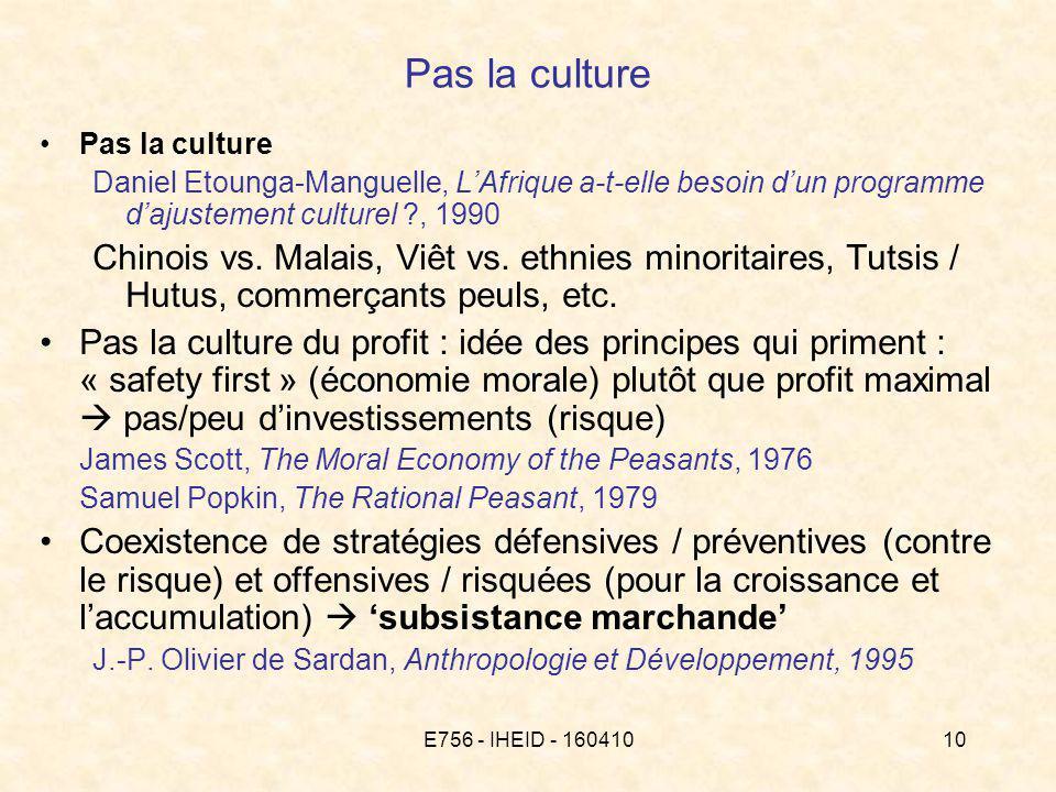 E756 - IHEID - 16041010 Pas la culture Daniel Etounga-Manguelle, LAfrique a-t-elle besoin dun programme dajustement culturel , 1990 Chinois vs.