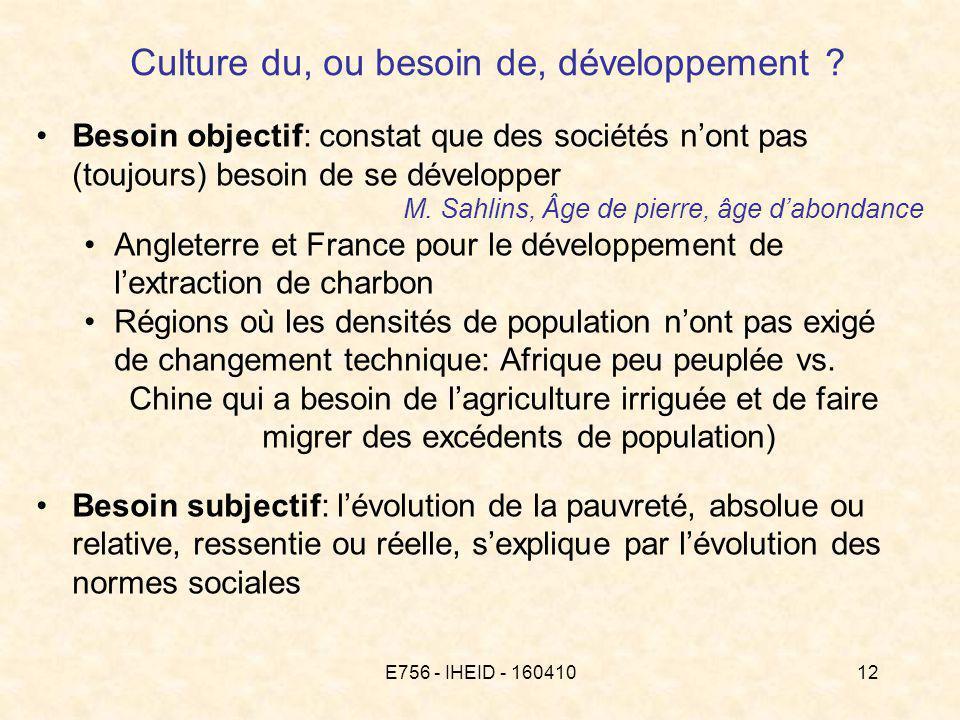 E756 - IHEID - 16041012 Culture du, ou besoin de, développement .