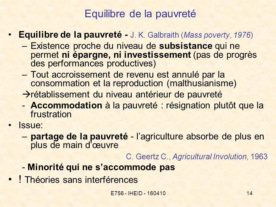 E756 - IHEID - 16041014 Equilibre de la pauvreté Equilibre de la pauvreté - J.