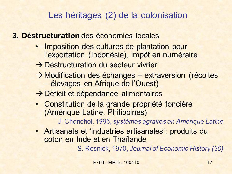 E756 - IHEID - 16041017 Les héritages (2) de la colonisation 3.