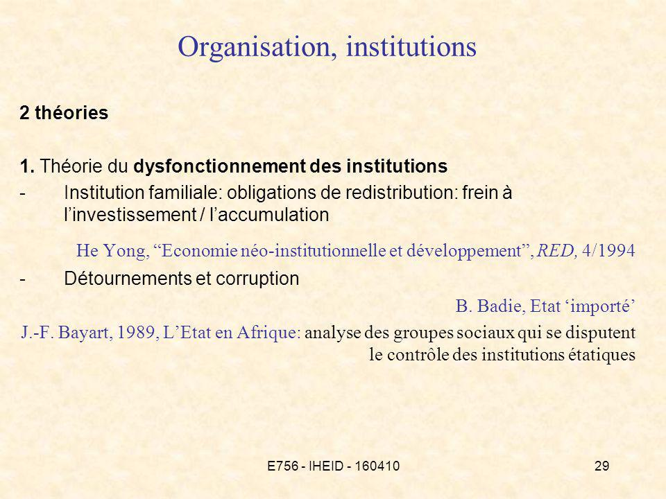 E756 - IHEID - 16041029 Organisation, institutions 2 théories 1.
