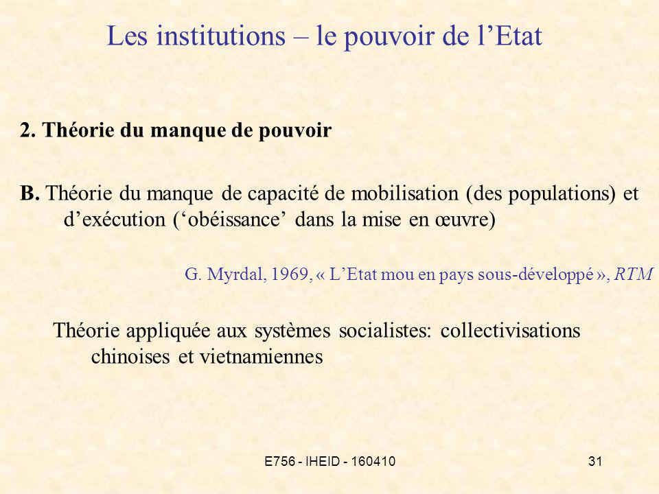 E756 - IHEID - 16041031 Les institutions – le pouvoir de lEtat 2.