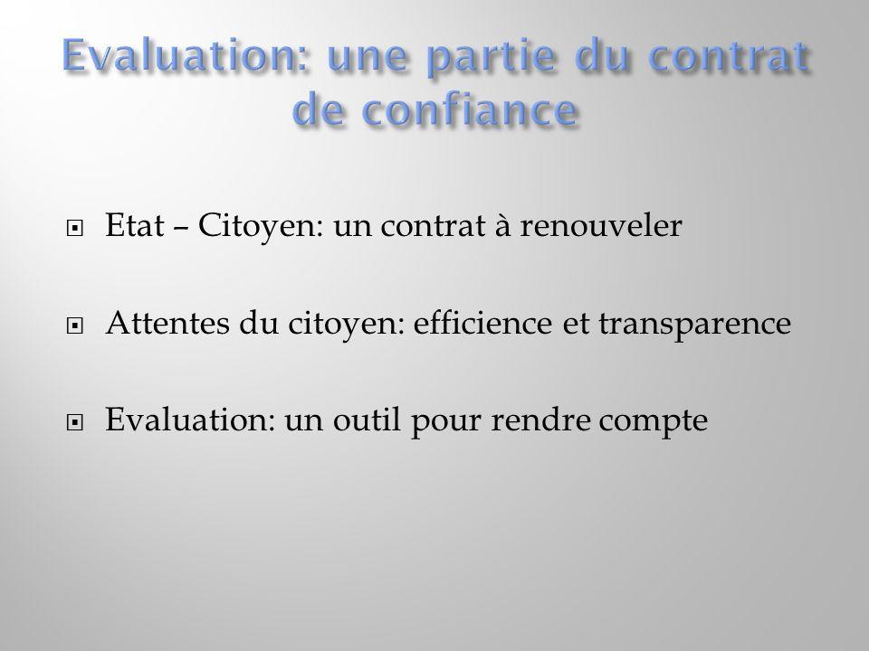 Culture de lévaluation: un apprentissage Utilisation des résultats de lévaluation: une nécessité Suivi de lévaluation: un impératif