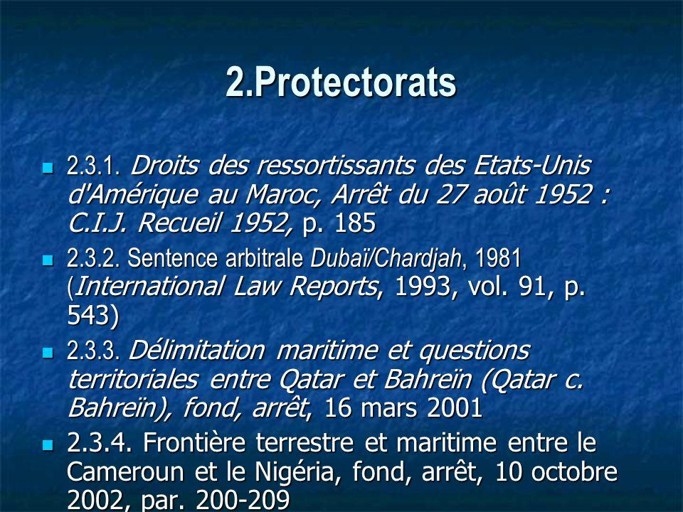 2.Protectorats 2.3.1.