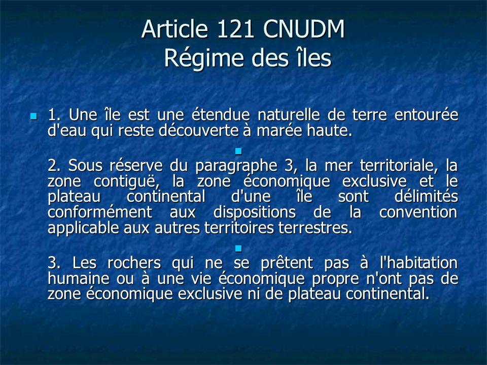 Article 13 CNUDM.Hauts-fonds découvrants 1.