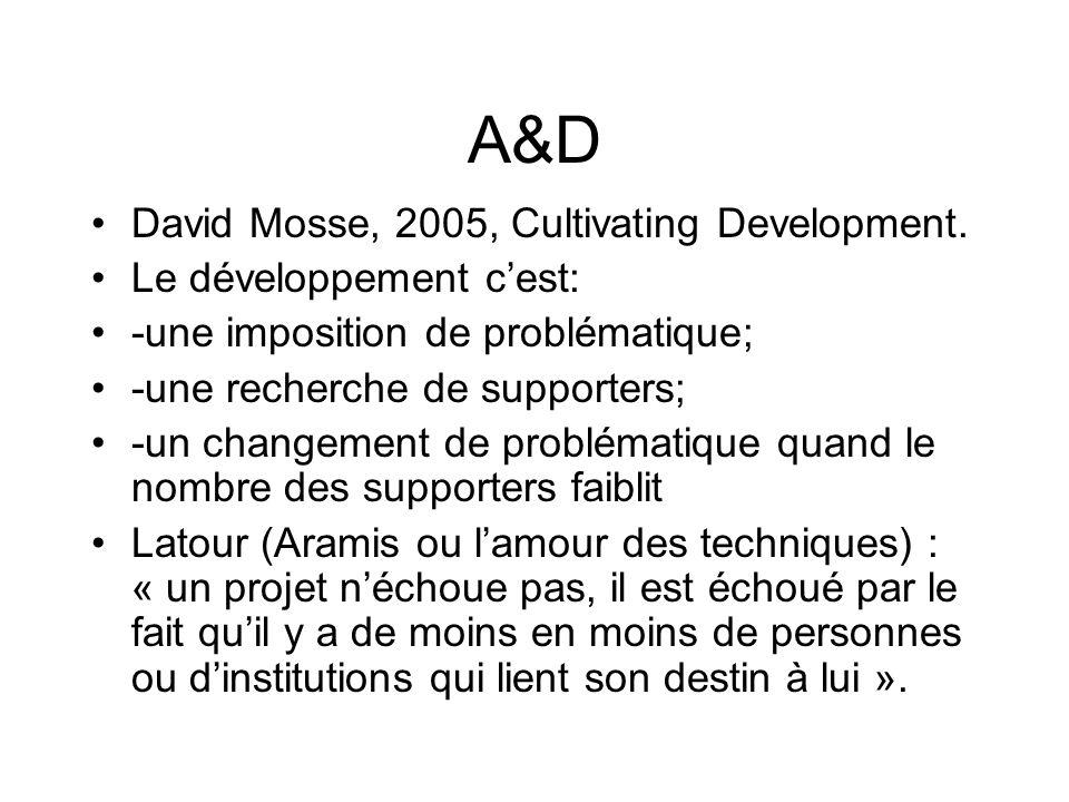 A&D David Mosse, 2005, Cultivating Development.