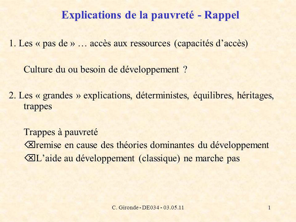 C. Gironde - DE034 - 03.05.111 Explications de la pauvreté - Rappel 1.