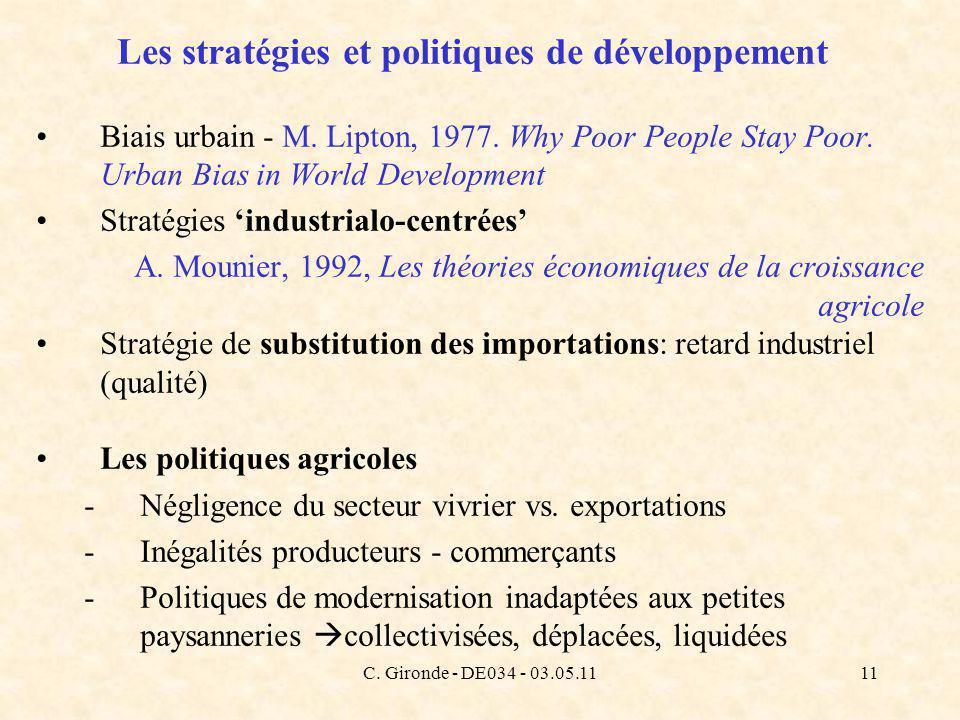 C. Gironde - DE034 - 03.05.1111 Les stratégies et politiques de développement Biais urbain - M.