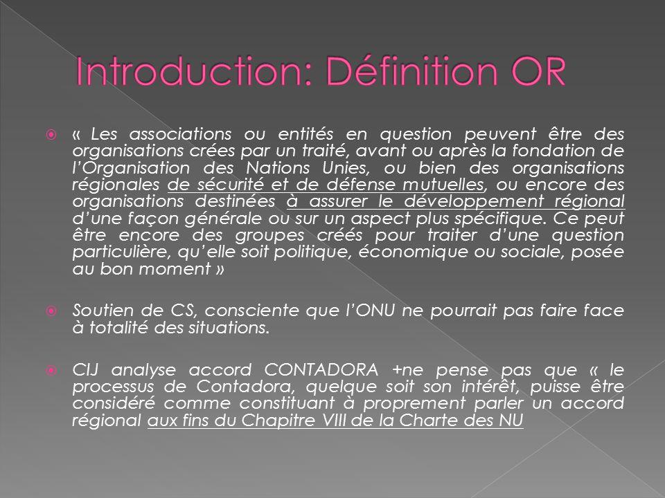 Historique: Universalisme c.Régionalisme Réunion Dumbarton Oaks S.