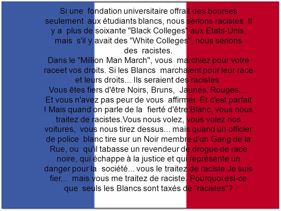 Vous avez le ''United Negro College Fund'', le ''Martin Luther King Day'', le ''Black History Month'', le ''Cesar Chavez Day'', le''Yom Hashoah'', le