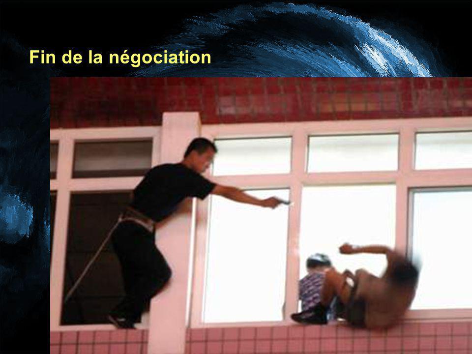 Fin de la négociation
