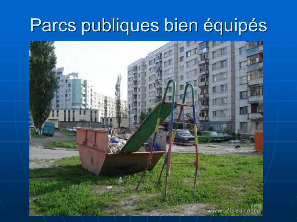 Parcs publiques bien équipés