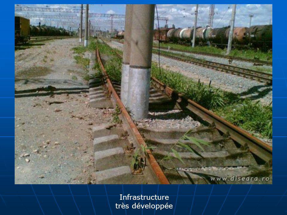 Infrastructure très développée