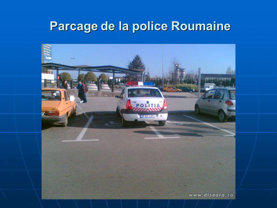 Parcage de la police Roumaine Parcage de la police Roumaine